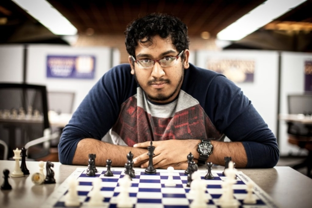 GM Priyadharshan Kannappan in action.