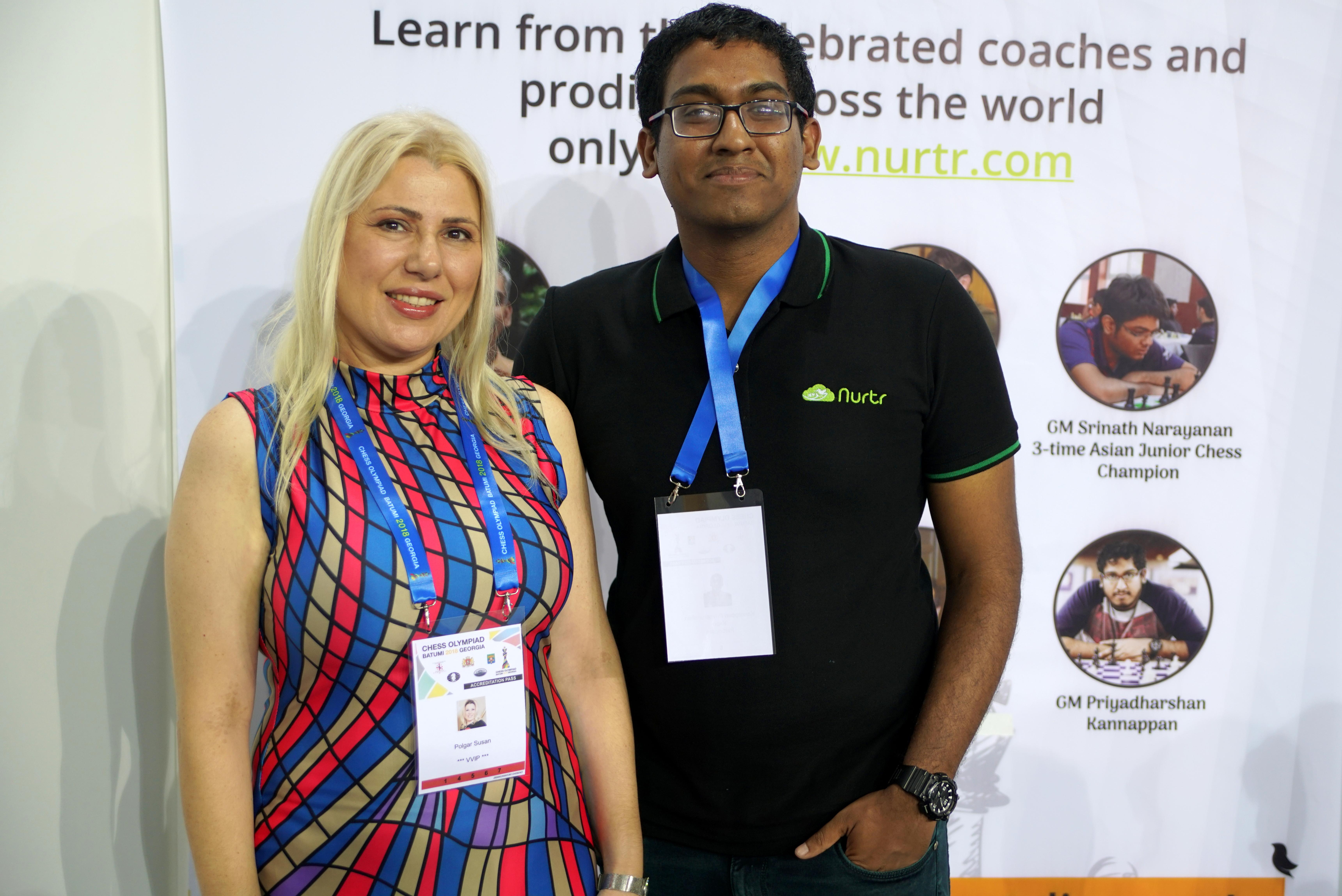 Priyadharshan with Susan Polgar