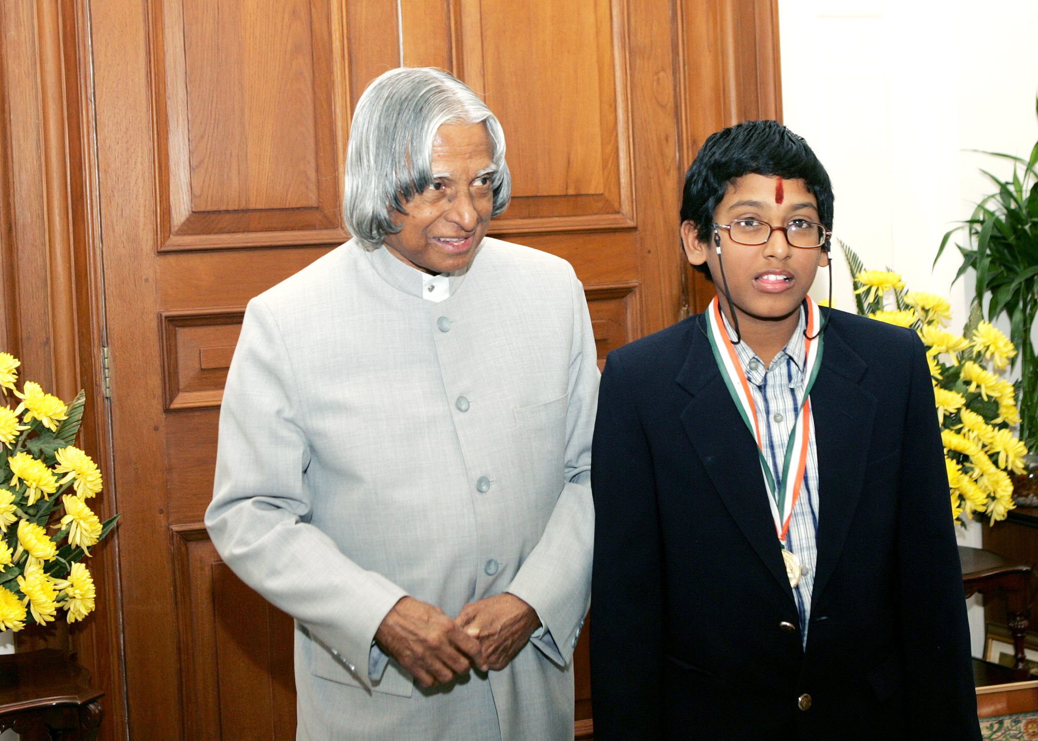 GM Priyadharshan with former President of India Mr.APJ.Abdul Kalam in Rashtrapathi Bhavan